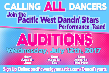 Dancin' Stars Performance Team Auditions