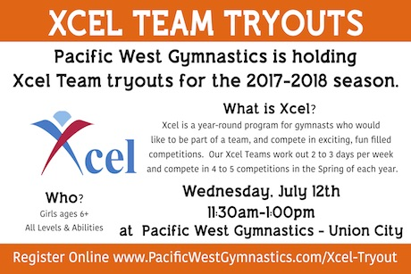 Xcel Team Tryouts at Pacific West Gymnastics